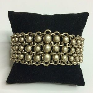 Kenneth Cole Gold Beaded Chain Stretch Bracelet